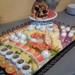 buffet de douceurs et cascade de fruits